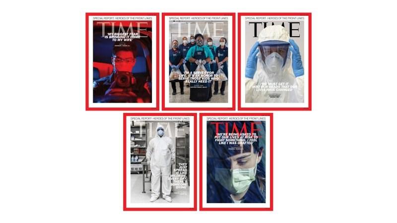 時代雜誌日前公布2020年風雲人物讀者票選結果,在冠狀病毒疫情期間冒著生命危險於前線服務的護理師、醫師、運送人員、雜貨店人員等工作人員勝出。(圖取自時代雜誌網頁time.com)