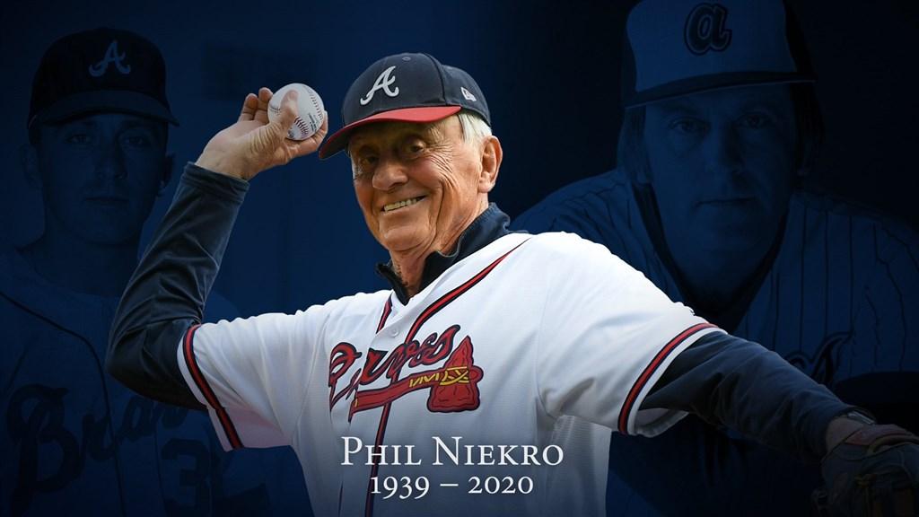 名人堂球星、蝴蝶球傳奇強投尼可羅(Phil Niekro)26日晚間在睡夢中辭世,享壽81歲。(圖取自twitter.com/braves)