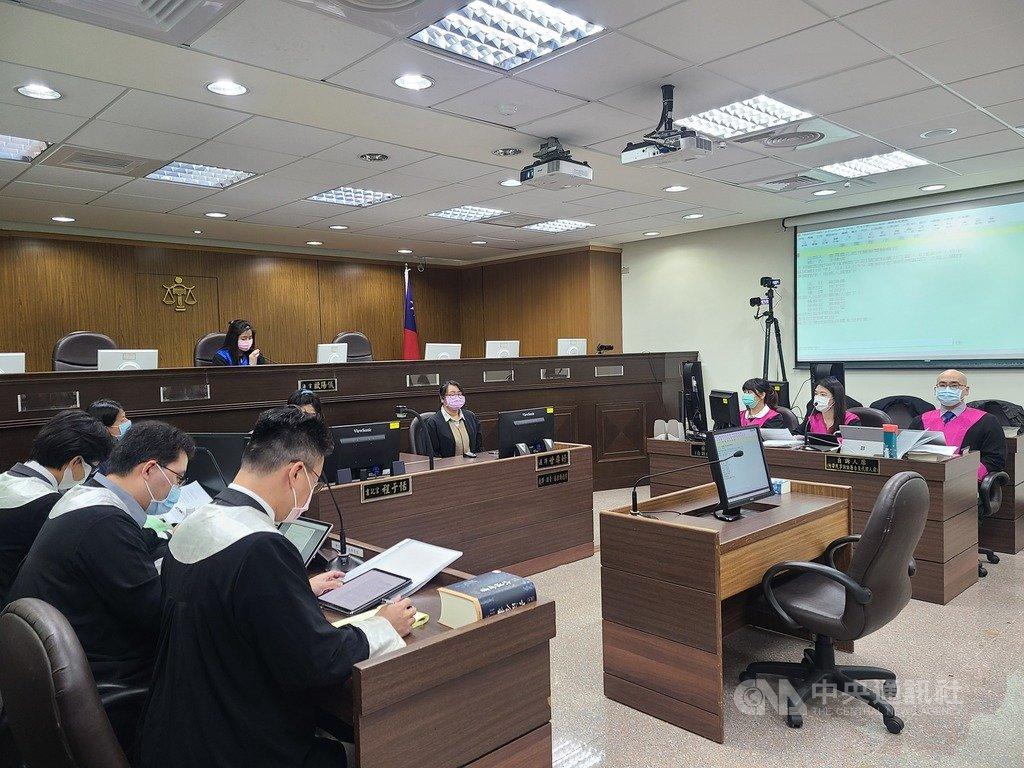 台北地方法院4日進行首場國民法官模擬法庭,審理丈夫殺妻的家暴殺人案,歷經3個多小時,順利終結。中央社記者林長順攝  110年1月4日