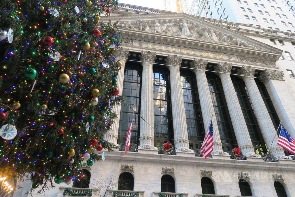 美股2021年出師不利,3大指數都跌逾1.2%;道瓊工業指數從歷史高點回跌382點,5年來首見新年開黑盤。圖為紐約證券交易所。中央社記者尹俊傑紐約攝  110年1月5日