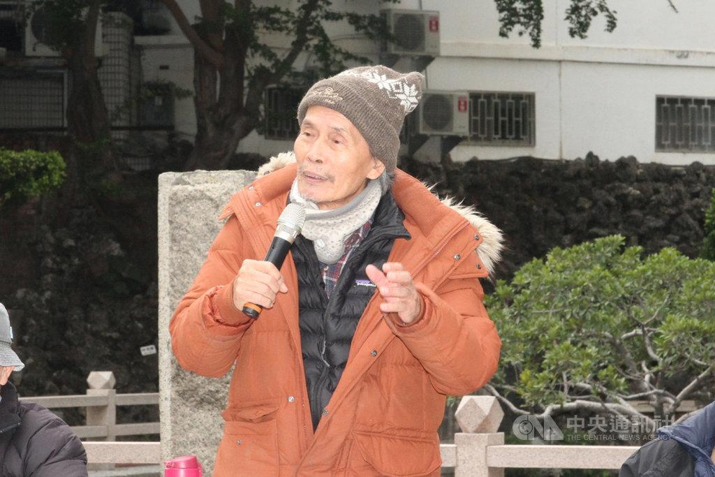 真理大學麻豆校區台灣文學資料館民國109年底遭無預警換鎖封館,創辦台文館的教授張良澤(圖)11日召開記者會表示,將辭去「名譽館長」,並退還校方給的鑰匙。中央社記者楊思瑞攝 110年1月11日