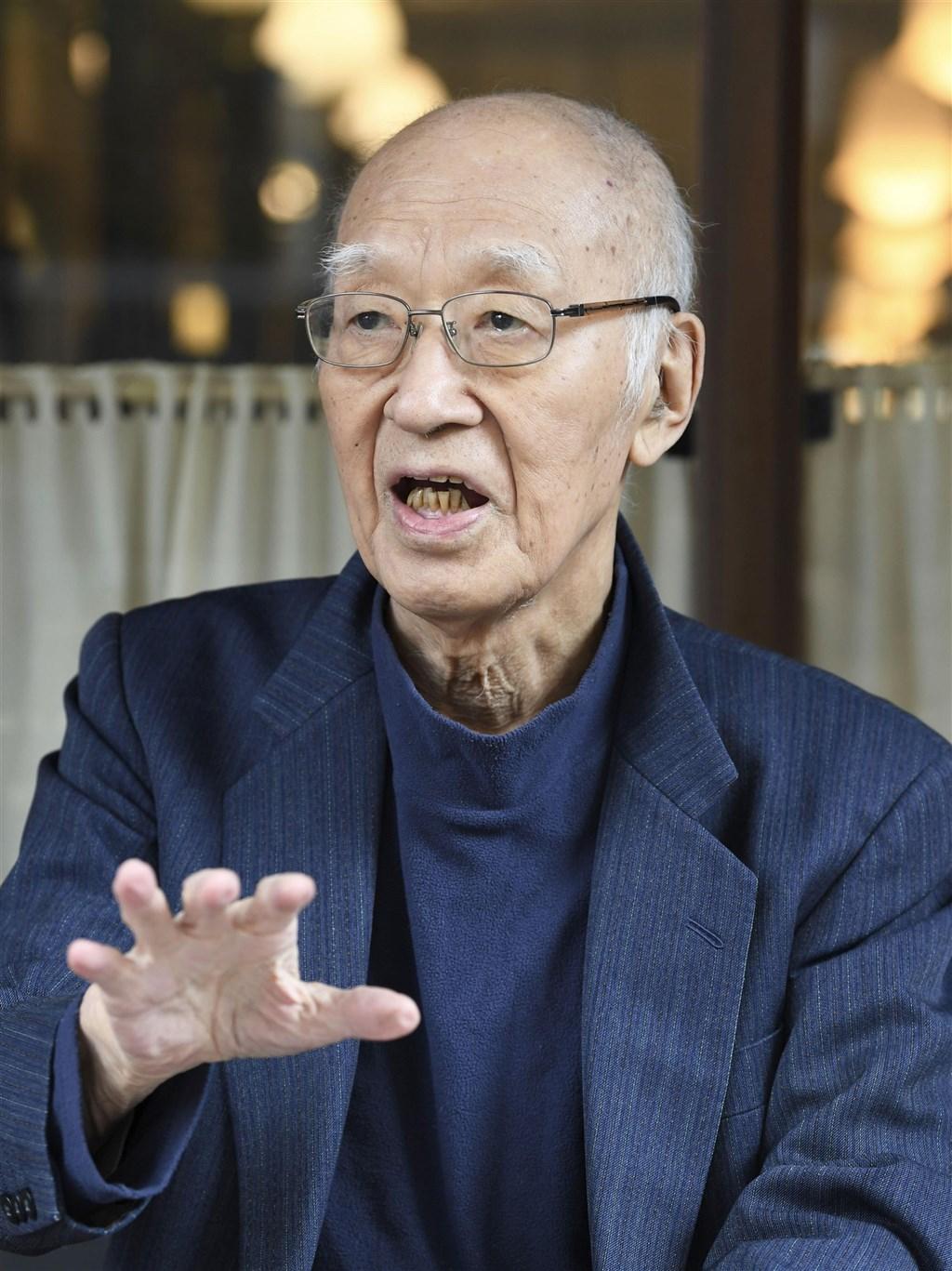 日本歷史作家半藤一利12日去世,享耆壽90歲。(共同社)