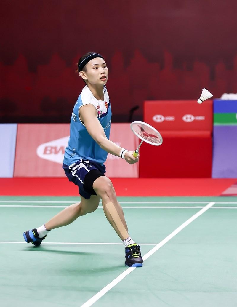 后戴資穎14日在泰國羽球公開賽擊敗南韓選手金佳恩挺進8強。她表示感覺14日狀態更好了。(泰國羽球協會提供)中央社記者呂欣憓曼谷傳真 110年1月14日