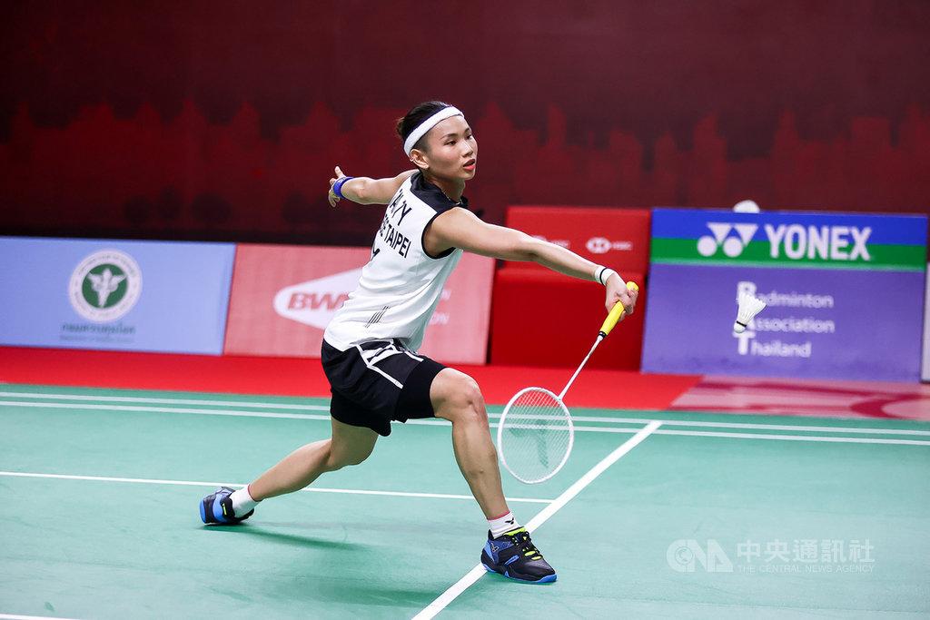 世界球后戴資穎21日在泰國羽球公開賽16強賽,以直落二成績擊敗印尼女將格蕾戈麗亞,挺進8強賽。(泰國羽球協會提供)中央社記者呂欣憓曼谷傳真 110年1月21日