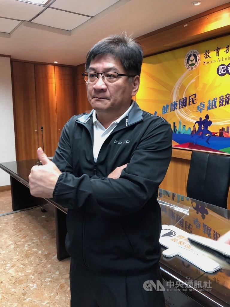 體育署新任副署長洪志昌(圖)21日表示,針對亞洲盃男籃資格賽第3階段中華隊集訓,PLG球員全部請假,他表示受疫情影響,球員、教練是否參賽須尊重大家意願。(中央社檔案照片)
