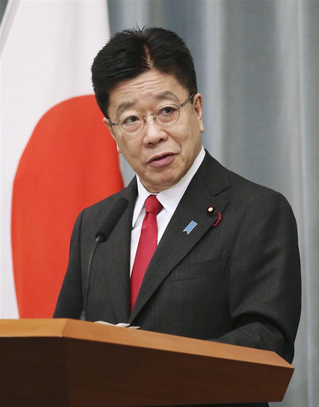 日本內閣官房長官加藤勝信25日表示,中國海上與航空戰力的活動急速擴大並變得頻繁,日本政府將持續關注。(共同社)