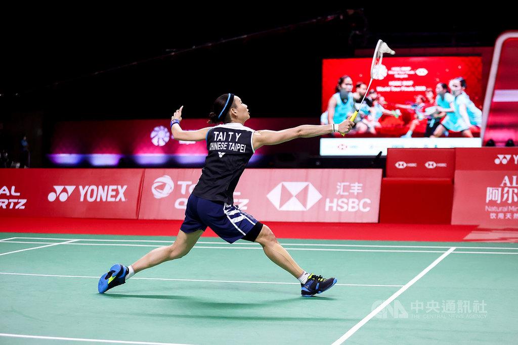 世界球后戴資穎28日在羽球年終賽小組賽次役,爆冷輸給世界排名13的泰國地主女將彭帕薇。(泰國羽球協會提供)中央社記者呂欣憓曼谷傳真 110年1月28日