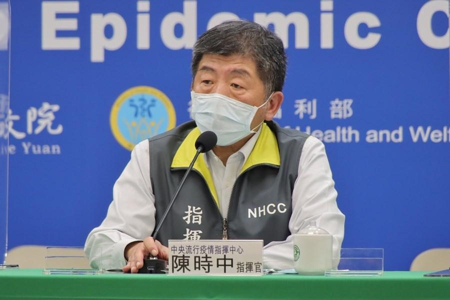 對於部分國家緩打牛津AZ疫苗,中央流行疫情指揮中心指揮官陳時中20日說,台灣對此高度重視,會持續關注國外相關做法和數據。(指揮中心提供)