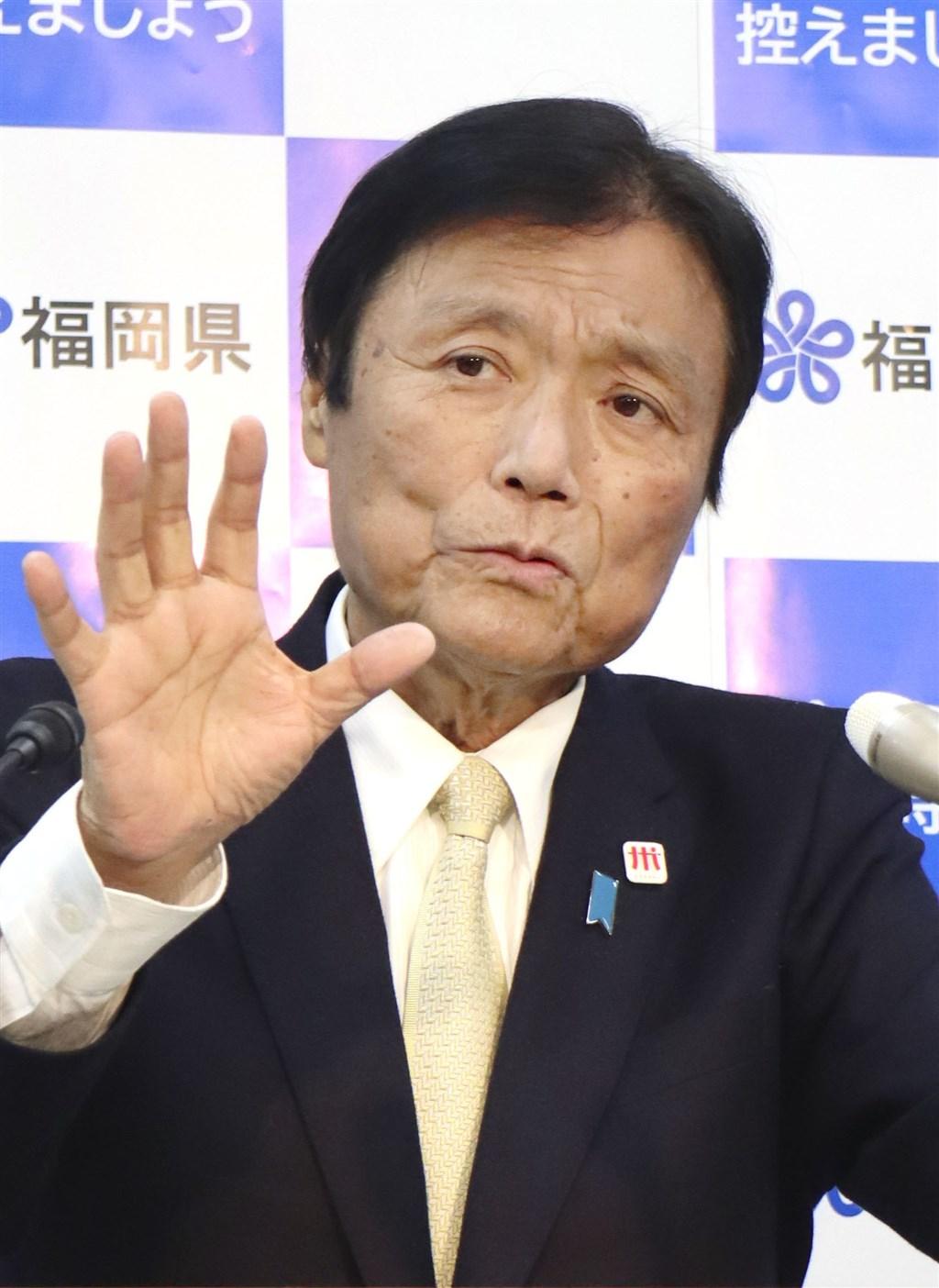 日本福岡縣知事小川洋因罹患肺腺癌正住院治療中,他決定向福岡縣議會議長提出辭呈。(共同社)