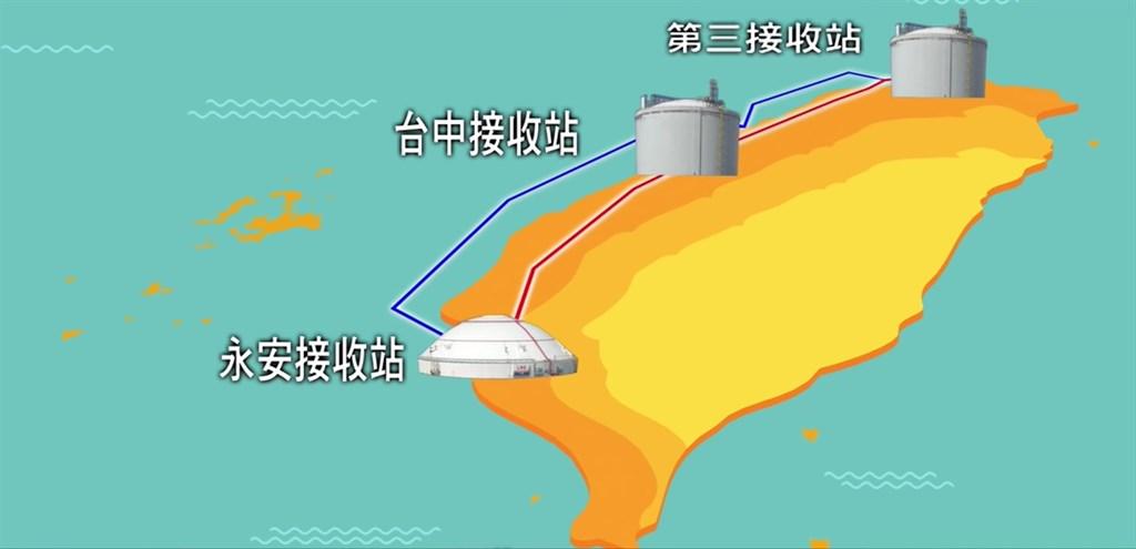 配合政府能源轉型政策,中油在觀塘工業區(港)新建液化天然氣接收站。(圖取自中油影城YouTube頻道網頁youtube.com)