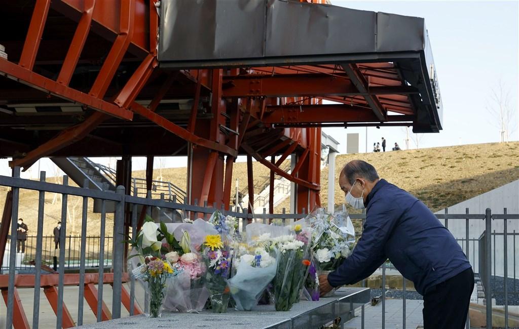 311地震10週年 日本石卷市灾民重回当年避难高岗祈福