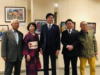 台灣學子畫作大阪展出 藝術促進台日交流