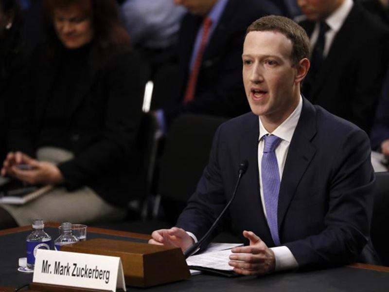 Facebook執行長祖克柏10日在美國國會作證,對於臉書用戶個人資料遭不當擷取濫用,重複之前的聲明,針對濫用資料非常抱歉。(路透社提供)