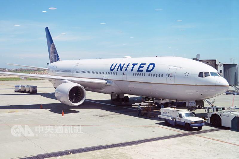 美媒報導指中國發函給美國聯合航空及美國航空,不准稱台灣為國家。圖為聯合航空班機。(中央社檔案照片)