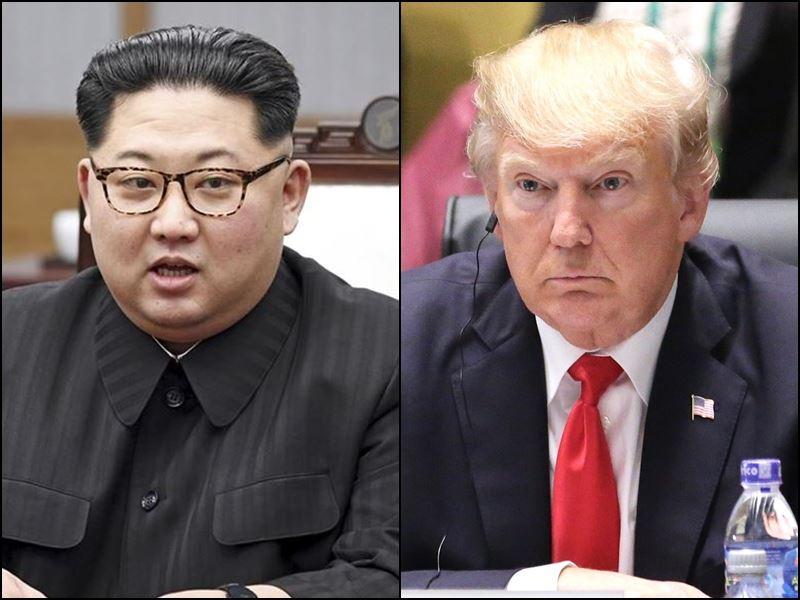 北韓表示,由於南韓與美國正展開聯合軍演,平壤決定取消原定16日與首爾舉行的高階會談,並揚言取消領導人金正恩(左)與美國總統川普之間備受矚目的高峰會。(圖左為兩韓峰會共同採訪團提供,右為中央社檔案照片)