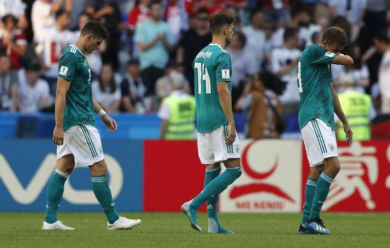 南韓27日在世界盃小組賽中,以2比0擊敗衛冕軍,F組確定由瑞典與墨西哥攜手晉級。這是德國從1934年參賽至今,首度沒有晉級世界盃16強。(達志提供)
