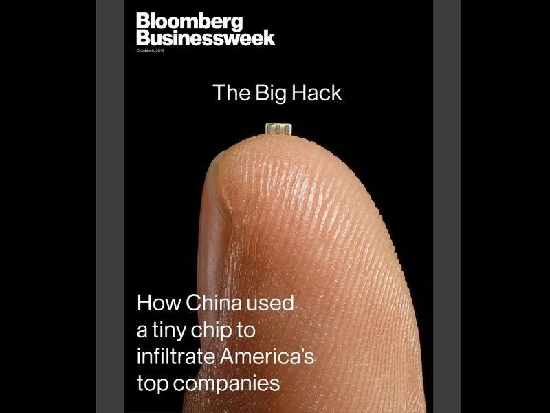 彭博商業周刊披露,蘋果、亞馬遜等美國企業系統遭中國情報機構植入惡意電腦晶片。(圖取自彭博網站www.bloomberg.com)