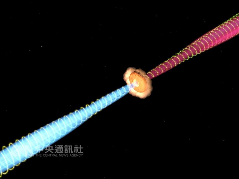 中央研究院天文所副所長李景輝團隊透過ALMA望遠鏡,領先全球觀測到恆星寶寶(原恆星)的噴流帶有磁場,證實科學家的推測。(中研院提供/圖片版權:蔡殷智)中央社記者陳至中台北傳真 107年11月29日