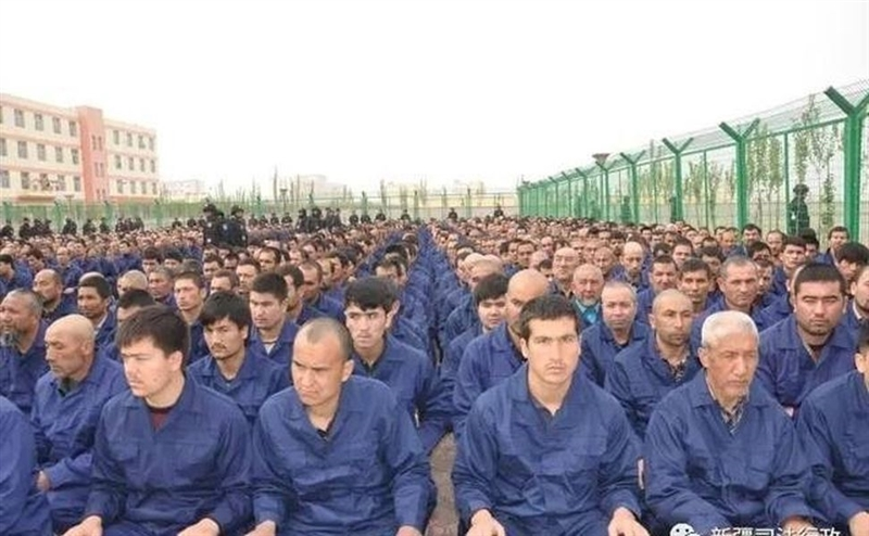 英國「金融時報」報導,中國打壓穆斯林已從新疆擴及寧夏。圖為新疆再教育營一景。(取自新疆司法廳微信公眾號)