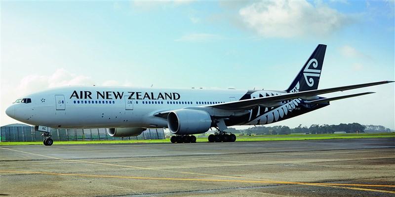 一架從奧克蘭飛往上海的紐西蘭航空班機,疑似因台灣問題,遭中國拒絕降落而折返。圖為紐航班機示意圖。(圖取自紐西蘭航空網頁www.airnewzealand.co.nz)