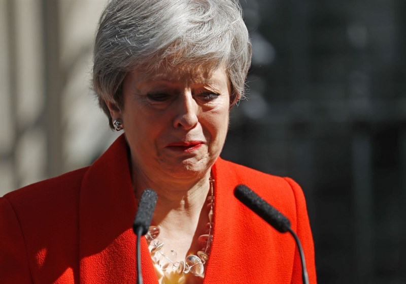 英國首相梅伊5月24日宣布,將在6月7日下台。(法新社提供)