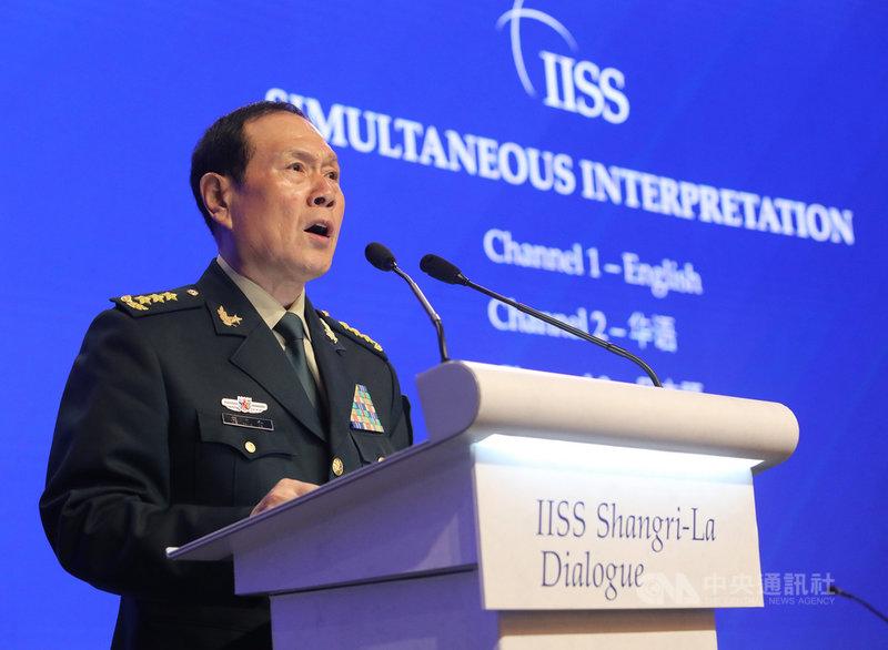 「香格里拉對話」聚集亞洲安全議題,出席對話的中國國防部長魏鳳和2日以「中國與國際安全合作」為議題演講。中央社記者黃自強新加坡攝 108年6月2日
