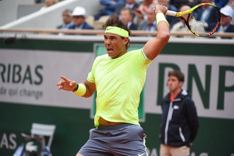 納達爾(圖)7日在法國網球公開賽男單準決賽中擊敗費德瑞,生涯第12度闖進冠軍戰。(圖取自twitter.com/rolandgarros)