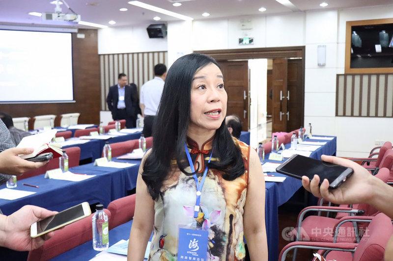 中國全國政協委員凌友詩17日在廈門說,反送中運動是香港殖民與台灣的日本皇民心態作祟。中央社記者楊昇儒廈門攝 108年6月17日