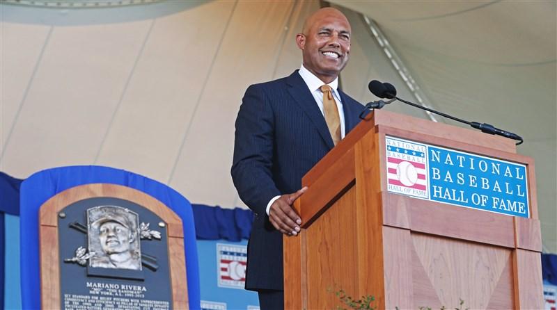 MLB紐約洋基傳奇終結者李維拉22日正式入主名人堂。(圖取自twitter.com/yankees)