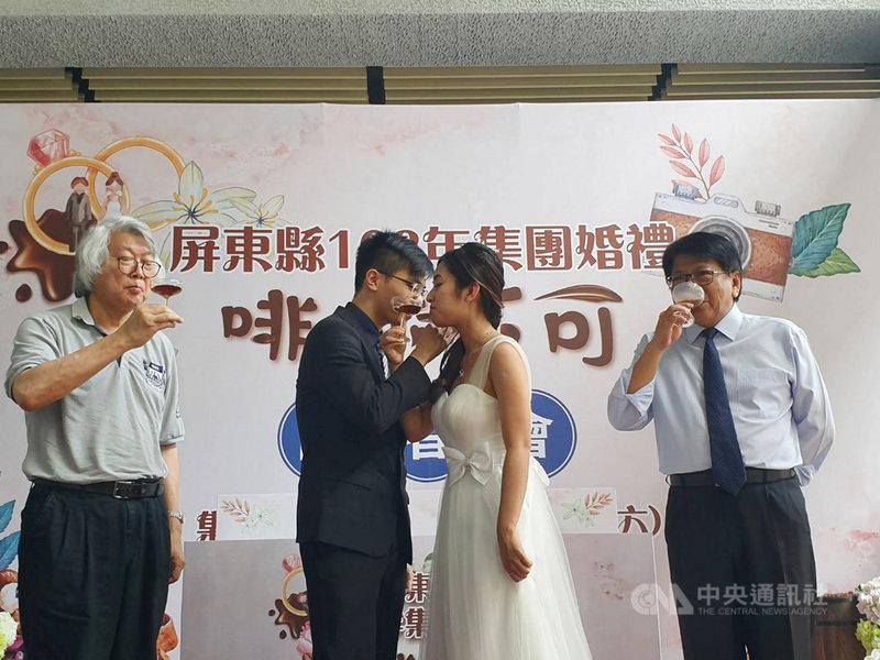 屏東縣108年集團婚禮將於10月5日舉行,屏東縣政府31日舉辦宣傳記者會,也歡迎同婚新人參加,即日起開放報名。中央社記者郭芷瑄攝  108年7月31日