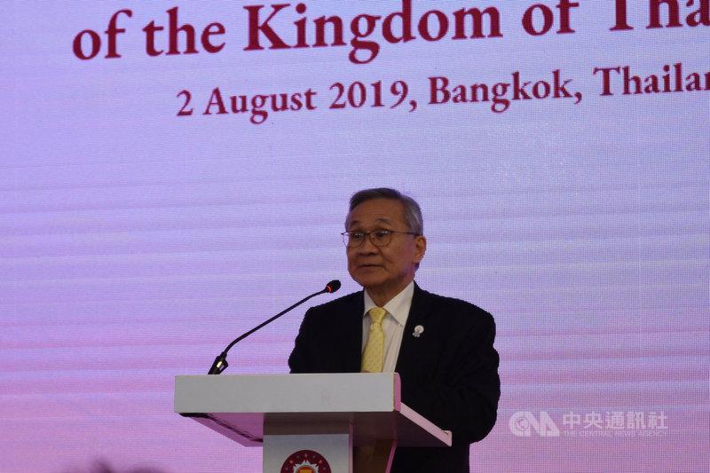 東協多個區域會議近日在曼谷舉行,泰國外交部長董恩2日晚間舉行記者會表示,這幾天的會議中,南海議題的確是大家關注的焦點。中央社記者呂欣憓曼谷攝 108年8月2日