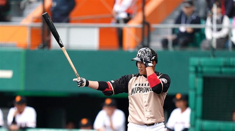日本火腿旅日選手王柏融10日重返一軍,4個打席都上壘,目前打擊率2成83。(圖取自facebook.com/pojung0909)