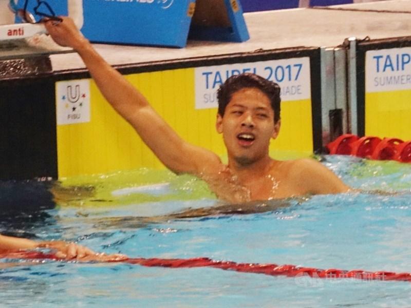 台灣游泳好手王星皓11日在香港公開賽以1分59秒44在200公尺混合式決賽奪金,成為台灣首位達到2020東京奧運A標的男子選手。(中央社檔案照片)