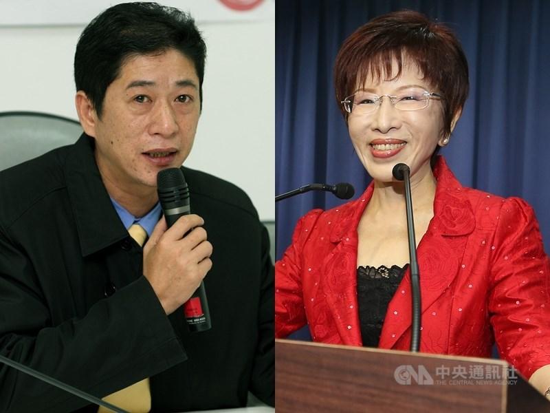 台南第6選區前國民黨主席洪秀柱(右)已表態參選。國民黨鎖定有綠營背景的人選出戰嘉義縣第2選區,黨務人士表示,與林國慶(左)合作的可能性高。(中央社檔案照片)