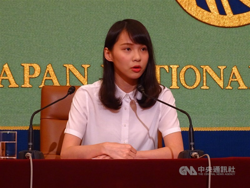 香港眾志成員周庭2018年參加立法會港島區議員補選被取消參選資格,2019年9月2日高等法院裁定周庭的選舉呈請勝訴。(中央社檔案照片)