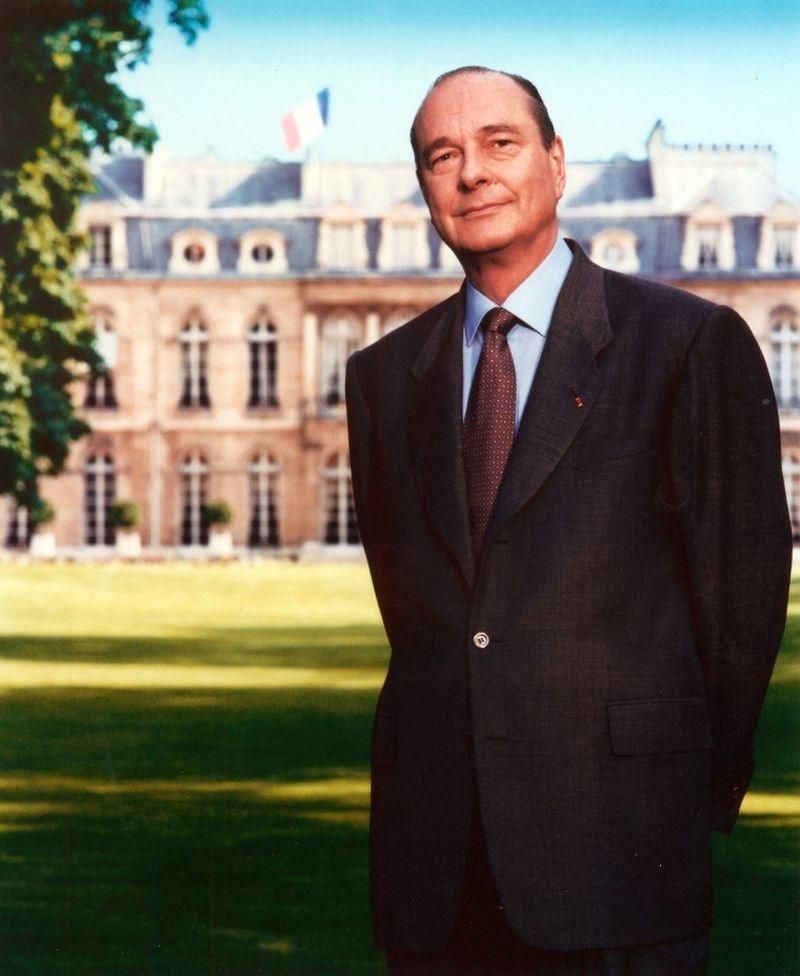 法國前總統席哈克26日早上過世,享壽86歲。(圖取自法國總統府艾里賽宮網頁elysee.fr)