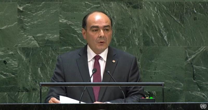 巴拉圭由外交部長里巴斯代表出席27日聯合國大會總辯論,演說通篇未提台灣,但巴拉圭早前有個別致函支持台灣參與聯合國體系。(圖取自聯合國YouTube頻道網頁youtube.com)
