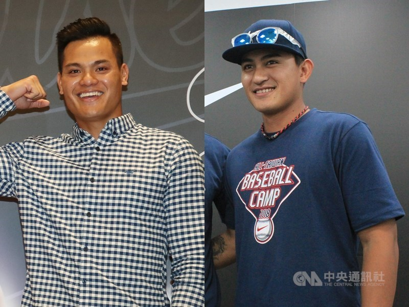 中華棒協3日公布亞洲棒球錦標賽中華隊24人名單,大聯盟選手張育成(左)、林子偉(右)都入選。(左圖中央社記者張新偉攝,右圖為中央社檔案照片)