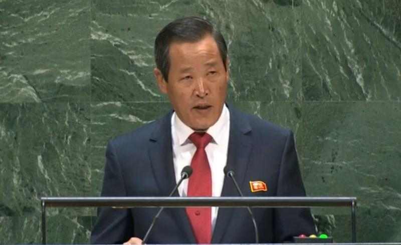 北韓駐聯合國大使金星7日警告,若有任何國家企圖在聯合國安全理事會提出北韓的「自衛措施」議題,北韓不會「坐視」。(檔案照片/韓聯社提供)