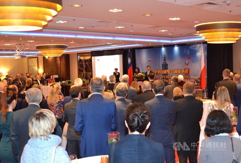 駐波蘭代表處8日(當地時間)晚舉辦國慶酒會,多位政要出席。(照片:駐波蘭代表處提供)中央社記者林育立柏林傳真 108年10月10日