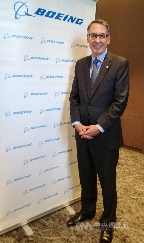波音商用飛機集團行銷副總裁蘭迪.廷賽斯(Randy J. Tinseth)17日在台北出席記者會,談到民航市場展望,他表示,台灣在內的東北亞民航市場將穩定成長,預測未來20年東北亞需1420架新飛機。中央社記者汪淑芬攝 108年10月17日