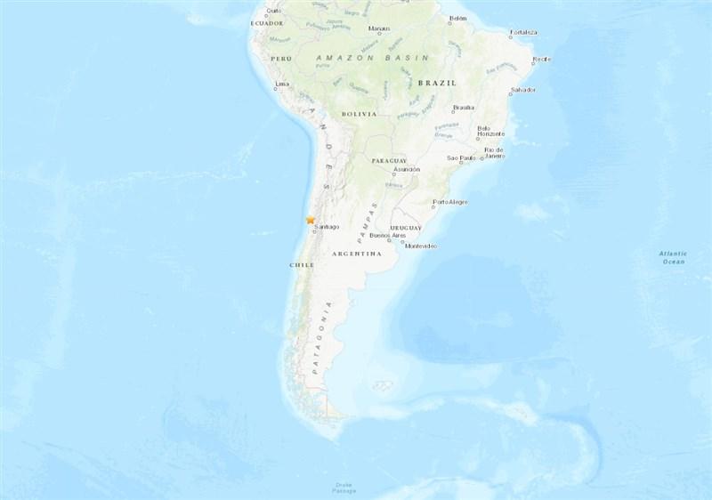 智利中部沿海城市科津波4日發生規模6.0地震,未釀災損。(圖取自USGS網頁earthquake.usgs.gov)