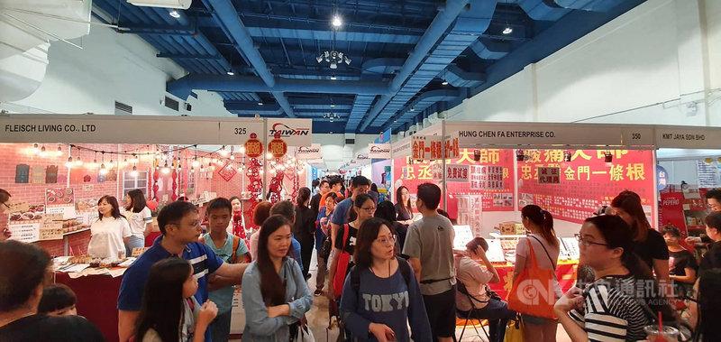 馬來西亞國際食品展於8日至10日舉行,台灣共有12家廠商參與,希望藉由獨特創新的產品並配合「新南向政策」,將台灣經貿活動拓展至東協市場。中央社記者郭朝河吉隆坡攝 108年11月9日
