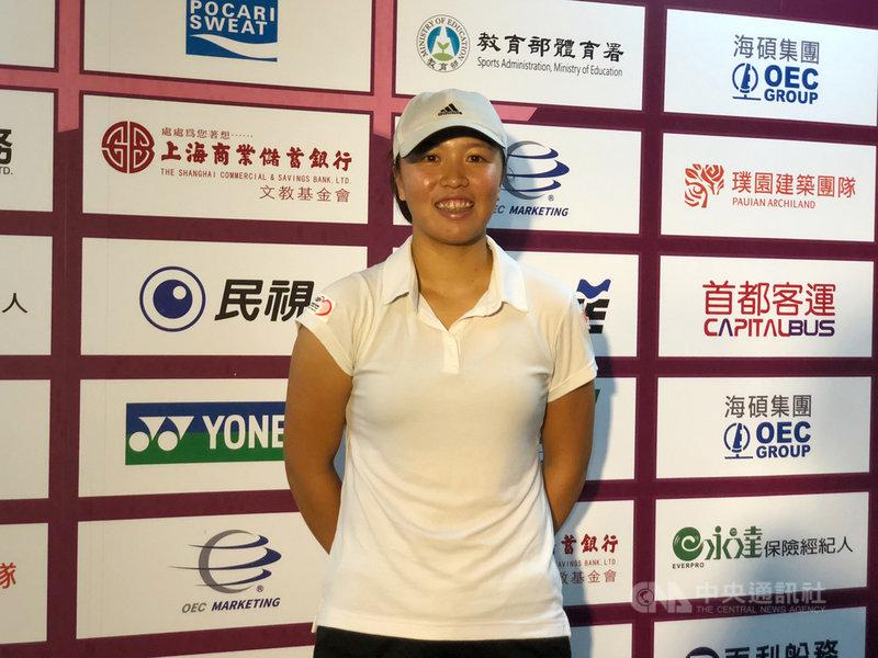 2019台北海碩網球公開賽,台灣網球女將李亞軒(圖)與妹妹李亞芯在會內賽女單分頭出擊,對於兩人未來是否可能攜手出征雙打賽事,她們13日都表示,不考慮。中央社記者黃巧雯攝 108年11月13日