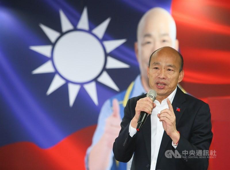 國民黨總統候選人韓國瑜(圖)25日出席全國顧問團成立大會,致詞時呼籲大家全力動員,為中華民國打一場勝仗。中央社記者謝佳璋攝 108年12月25日