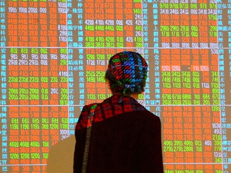 證券投顧機構統計,台股自今年初至12月25日收盤,漲幅達23.44%。(中央社檔案照片)
