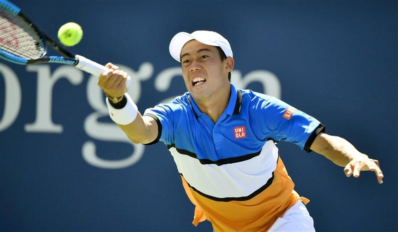日本網球明星錦織圭因為手肘傷勢,在30日決定退出首屆世界職業網球協會盃(ATP Cup)。(檔案照片/共同社提供)