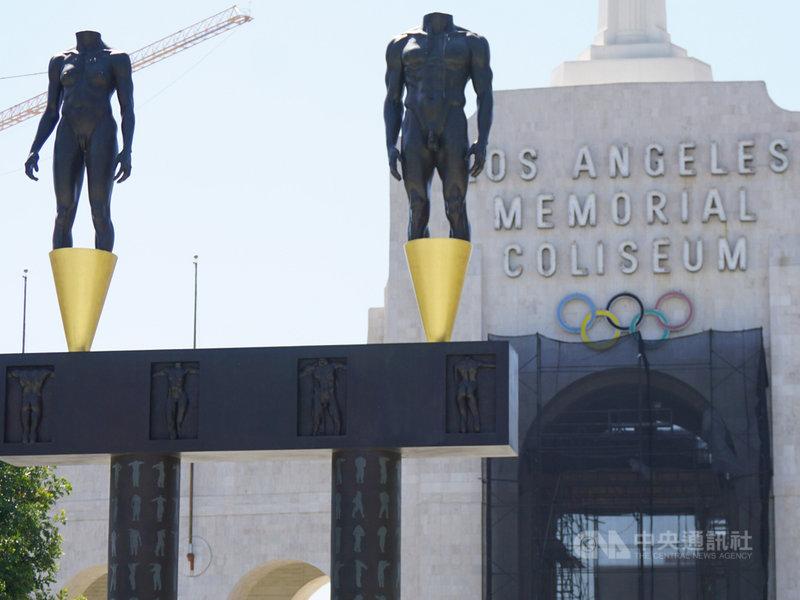 美國NBC運動網回顧過去10年奧運比賽,包括男女混合比賽增加、引進新興的現代運動等趨勢,2020年東京奧運有新風貌。圖為1984年洛杉磯奧運的比賽場地,洛杉磯將主辦2028年奧運。中央社記者林宏翰洛杉磯攝 108年1月3日