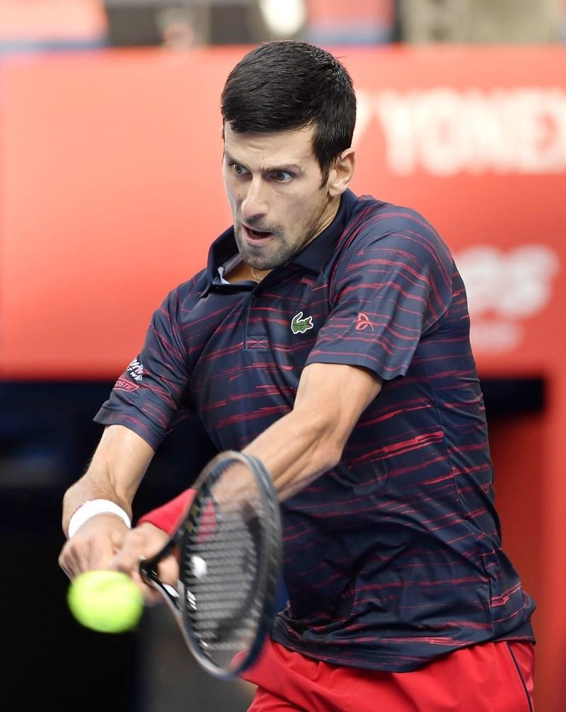 世界職業網球協會球員理事會主席喬科維奇(圖)表示,如果澳洲野火煙霧威脅球員健康,主辦單位應考慮延後舉辦澳洲公開賽。(檔案照片/共同社提供)