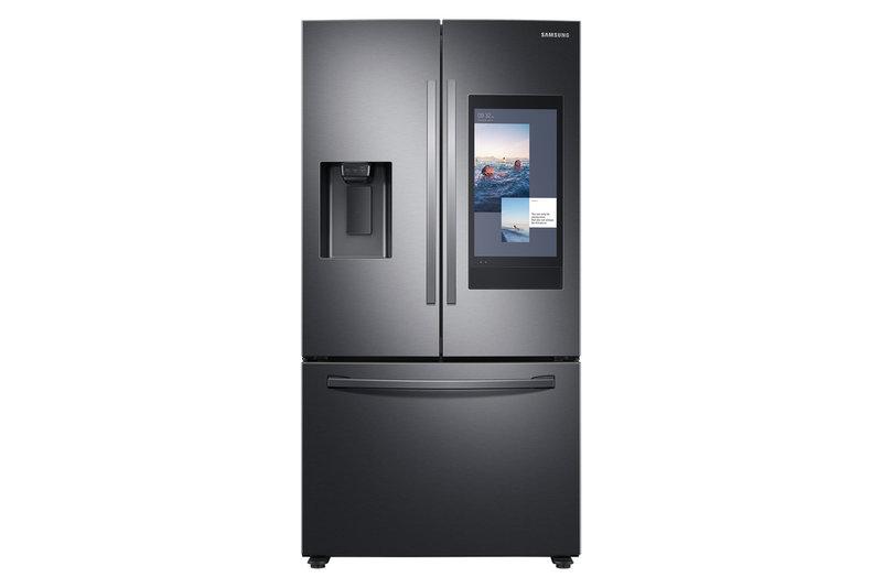 三星端出新一代Family Hub冰箱,能操控智慧居家中更多聯網裝置,並加入AI相機功能。(三星提供)中央社記者江明晏傳真  109年1月6日